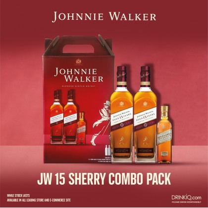 Johnnie Walker Aged 15 Years Sherry Combo